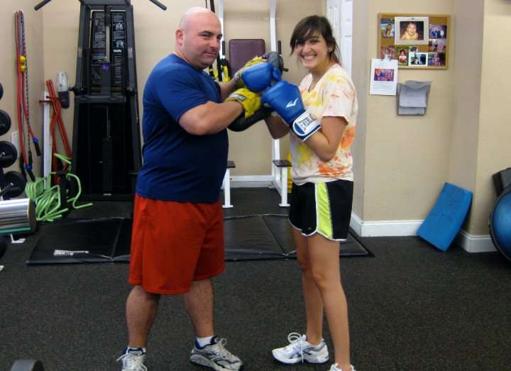 our trainer and our client boxing