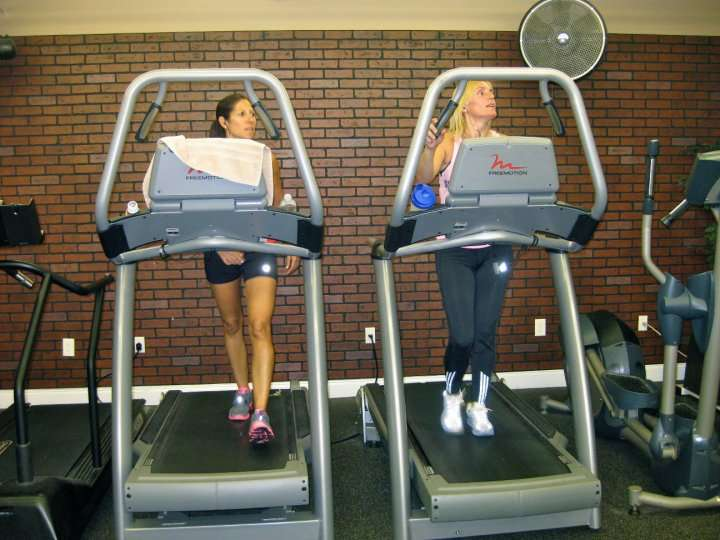 2 clients on a treadmill